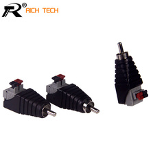RCA terminal CAT5 To Camera CCTV Video Balun RCA Female+Male Jack AV Screw Terminal Pressed Connector RCA MF to Terminal Block(China)