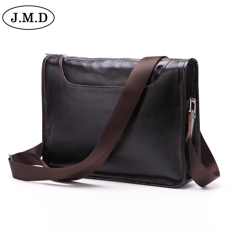 J.M.D new men Fashion Genuine Leather Crossbody Bags For Men High Quality Handmade Leather Shoulder Bag 11 ipad bag 8129<br>
