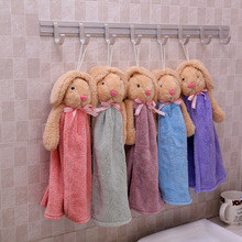 5Pcs/lot  Colors Cute Animal Microfiber Kids Children Cartoon Absorbent Hand Dry Towel Lovely Towel For Kitchen Bathroom Use