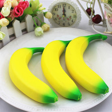 Slow Rising Squishy Banana Wrist Hand Pad Rest Kids Toy Charm Home Decoration Children Adult Novelty Funny Anti-stress Toys(China)