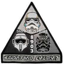 "3.5"" 501st Legion trooper Star Wars patch tv movie Embroidered Iron On Badge transfer grey black Halloween Cosplay Costume"