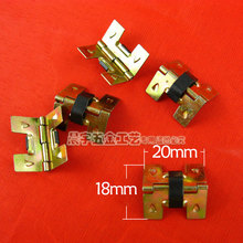 20*18MM 100pcs vintage small box Elasticity hinges wooden jewelry wine box luggage hinge furniture fittings wholesale(China)