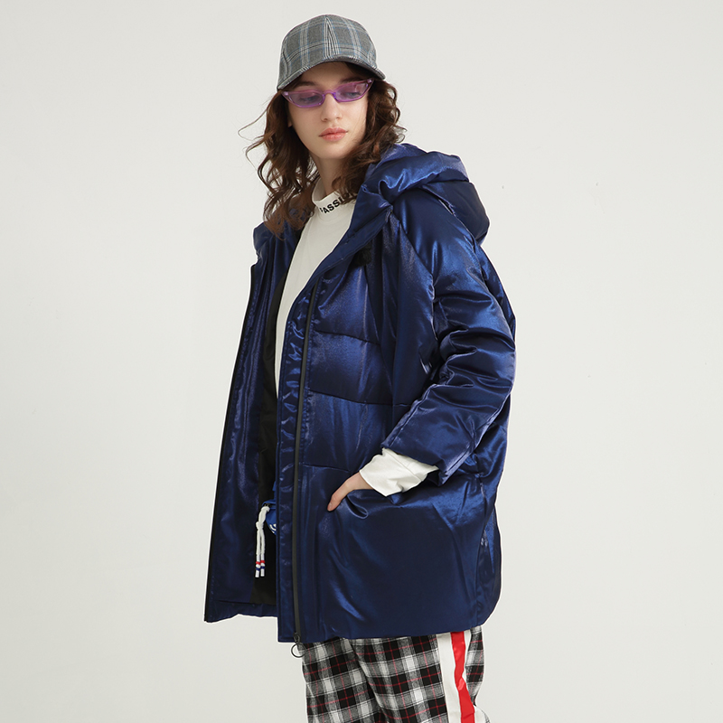 Womens Winter Down Jacket Fashion Large Size Loose 90% White Duck Down Parka With Hood 2019 New Arrival Oversized Winter Coat