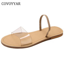 COVOYYAR 2019 Summer Flat Slides Transparent Slippers Beach Women Sandals  Fashion Open Toe Outside Clear Band Shoes WomanWSL29-in Slippers from Shoes  on ... 7d058ee9be0e