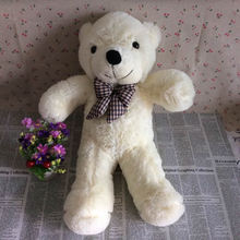 55cm = 21.6'' Teddy Bear Stuffed Animals Toys Plush Doll, Giant Stuffed White Tie Bear Plush Toy For Girl Friend/Children(China)