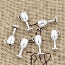 99Cents 12pcs Charms wine glasses 15*6*6mm Antique Making pendant fit,Vintage Tibetan Silver,DIY bracelet necklace(China)