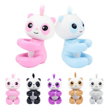 Cartoon Fingertip Toys Cute Fingertip Grabbing Panda Small Sized Toy Baby Electronic Sound Toys Kids Interactive Toy(China)