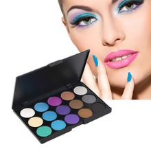 15 Colors Matte Shimmer Pigment Eyeshadow Palette Makeup Cosmetic for Professional Salon Wedding Party and Home use 2017 New(China)