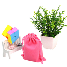 Velvet Drawstring Carrying Pouch Bag for Magic Cube 3x3x3 2x2x2 4x4x4 Six Colors(China)