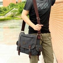 Men Canvas Shoulderbag Hunter Outdoor Carry Bags Hunting Shoulder Bag Messenger Bags(China)