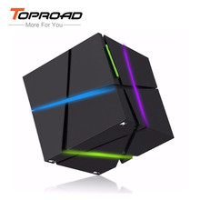 TOPROAD Qone Portable Bluetooth Speaker with LED Light Stereo karaoke box Mini Mp3 Player FM Radio parlante(China)