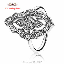 2015 new 925 Sterling Silver Rings Pave Sparkling Lace with Clear CZ For Women fashion Engagement Rings