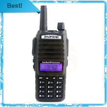 New arrived black BaoFeng Dual Band walkie talkie UV-82 with Double PTT earpiece 220-260MHz handheld radio