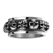 Soldier Stainless Steel Classic Retro Skeleton Skull Head Metal Punk Rock Jewelry Gothic Man Boys Casual Sporty Charm Hand Rings(China)