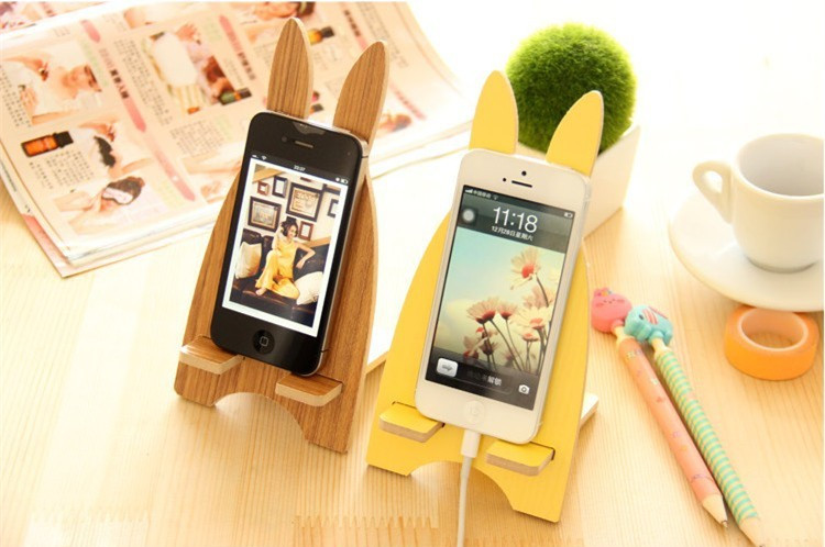 2017 Universal Phone Holder Cute Rabbit Desk Stand Smartphones Small Tablet for ipad iPhone Multiple Color Option(China (Mainland))