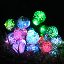 12pcs LED Bulb Light Solar Powered String Lights Decoration For Christmas Party Holiday Garden 2 Modes With 7 Light Colors(China)