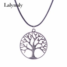 2016 New fashion alloy pendant life of tree shape choker ropenecklace for girl gift simple charming accessories N28881