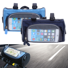 Multifunction Cycling Mountain Road Bike MTB Bicycle Bag Touch Screen Bag Frame Tube Handlebar Pack Pannier Shoulder Strap Bags(China)