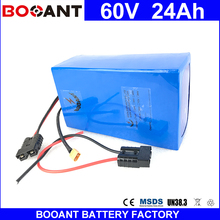 BOOANT 60V 24AH Li-ion Battery Electric Bike Battery For 1400W Bafang Motor With 67.2V 5A Charger eBike Battery EU US Free Duty(China)