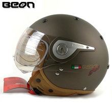 BEON vintage off road motocross men feminino motorcycle helmet vespa casco capacete open face capacetes motociclistas B-110A(China)