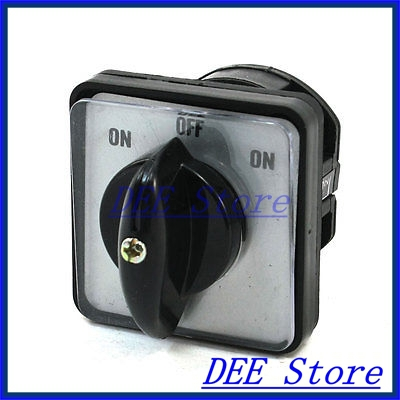 Panel Mount 3 Position Combination Changeover Switch 660V Ui 10A Ith<br><br>Aliexpress