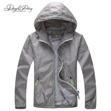Fashion Jacket And Coat Unisex Zipper Hooded Quick-Drying Thin Windproof Breathable Casual Brand Sunscreen Coat 7 Colors DCT-009