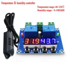 DC 12V Temperature and humidity control Temperature controller thermostat humidistat with Sensor For 220v electric appliance(China)