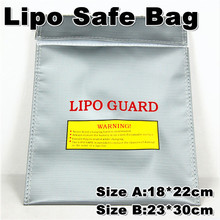 Fireproof LiPo Safety 18x22cm 23x30cm Fiber Lipo Safe Bag Lipo Guard Bag Silver