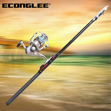 Econglee Wholesale Fiberglass Fishing Rods Angeles Fishing Gear Hand Sea Pole FD0014