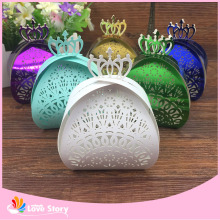50pcs Crown Laser Cut Chocolate Box Packaging Candy Box Wedding Favors Party Supplies Wedding Decoration Wedding Favor Box