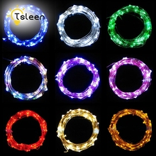 TSLEEN 3M Battery Operated LED String Light Silver Wire DC 4.5V Fairy Lights Christmas New Year Wedding Decoration Starry Lights(China)
