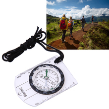 All in One Outdoor Hiking Camping Baseplate Compass MM INCH Map Ruler Portable Compass Kits BHU2(China)