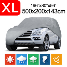 Hot sale Outdoor Full Car Cover Sun UV Snow Dust Resistant Protection Size L XL Car covers Free shipping(China)