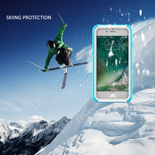 Advanced Life and swimming dual use ski For iPhone Case Mobile phone bag For iPhone 6 6s 7 plus waterproof case for phone(China)
