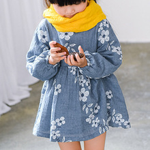 Kids Dresses For Girls 2016 Autumn Long Sleeve Dress Kids Clothing Floral Little Girls Formal Dresses Children Causal Clothes