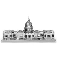 U.S. Congress 3D Metal Puzzle Kids Toys For Boys DIY Assembly Building Model Brinquedos Educational Toys Jigsaw Puzzles