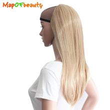 MapofBeauty Long straight Half wig Female Wigs for Women Fake Realistic Ladies Drag Queen Synthetic hair extension false Hair(China)