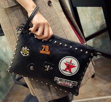 Top Quality New Summer Bag Fashion Punk Style Women's Bags Rivet Handbags Shoulder Messenger Bags Envelope Clutches Purse