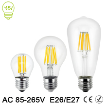 Led Lamp 220V 110V E27 E26 Filament Led Edison Bulb Lamp 2W 4W 6W 8W Glass Ball Bombillas Retro LED Bulb Edison Candle Light(China)