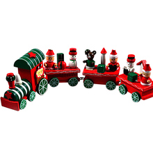 wooden christmas decorations Xmas Train Decoration Decor christmas gifts christmas toys new year presents addobbi natale Nov2