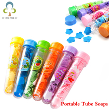 2pcs/lot Portable Tube Soaps Petals For Travel Scented Bath Soap Flakes Child Hand Washing Soaps Best Gift For Bath WYQ(China)