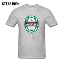 Mens Tee Shirts Raikkonen Logo Adult O Neck Short T-Shirt New Design Homme T Shirts For Teen Girls for Male(China)