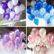 10'' Brand New 20pcs Pearl balloons Thick 2.2g Birthday Ballons Decorations Wedding Engagement New Year Celebration accessory(China)