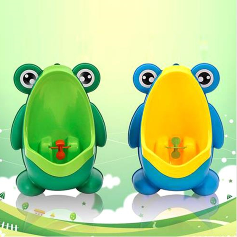Pee Training Urinal Toilet Frog Potty Nontoxic Toddler Pee Trainer-Yellow Potty Training