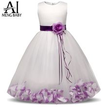 Ai Meng Baby 2017 Flower Children's Girl Costumes For kids Princess Party Wedding Dresses Girls Clothes Teen Girl Evening Dress