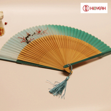 Bamboo fan Japanese Folding Fan Color Hollow Bamboo Ladies Hollow Hand Tassels Carved Wedding Gift & Party Favors Decorations