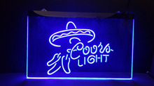 b-277 Coors light beer bar pub club 3d signs LED Neon Light Sign vintage home decor man cave