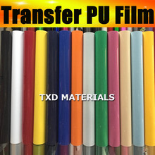 High quality cutting plotter transfer vinyl pu film with size:50x100cm/lot heat transfer pu film by free shipping