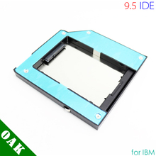 Free DHL - Factory Price Aluminum 9.5mm SATA to IDE Second HDD Enclosure for IBM T60/T40/T61 High Quality - 100pcs(China)