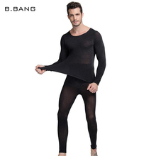 B.BANG Hot Winter 37 Degree Men Thermal Underwear Set Ultrathin Heat Long Johns High Elastic Warm Suit Free Size